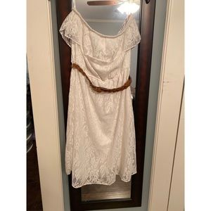 Maurice's white lace dress